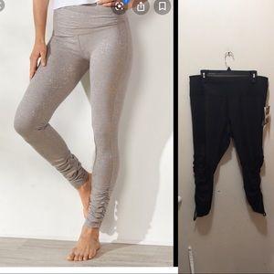 Aviva workout pants black size 20 adjustable